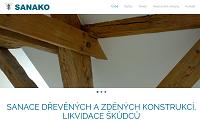 WEBOVÁ STRÁNKA SANAKO.cz, s.r.o. Sanace a vysoušení vlhkého zdiva Praha