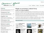 WEBOVÁ STRÁNKA ANGLASS s.r.o. Průmyslový tisk a pískování