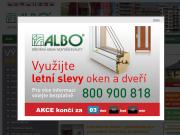 PÁGINA WEB ALBO DREVENA OKNA A DVERE Obchodni a vzorkova kancelar ALBO