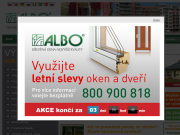 WEBOVÁ STRÁNKA ALBO DŘEVĚNÁ OKNA A DVEŘE Obchodní a vzorková kancelář ALBO