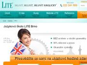WEBOVÁ STRÁNKA Jazyková škola LITE Brno