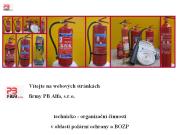 WEBOVÁ STRÁNKA PB Alfa, s.r.o. Požární ochrana a BOZP Brno