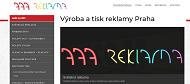 WEBOVÁ STRÁNKA AAA REKLAMA Reklamní světelné boxy, autofólie Praha.