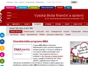 WEBOVÁ STRÁNKA Vysoká škola finanční a správní, a.s.
