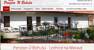 WEBOVÁ STRÁNKA Penzion U Bohuša
