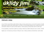 WEBOVÁ STRÁNKA Úklidy Jimi - Jiří Mík Úklidová služba Praha