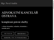 WEBOVÁ STRÁNKA Advokátní kancelář Ostrava - Mgr. Pavel Andrle