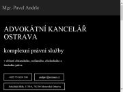 SITO WEB Advokatni kancelar Ostrava - Mgr. Pavel Andrle