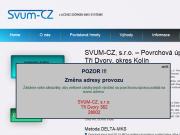 WEBOVÁ STRÁNKA SVUM-CZ, s.r.o.