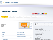 WEBOVÁ STRÁNKA Stanislav Franc