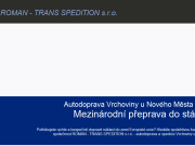 WEBOVÁ STRÁNKA ROMAN - TRANS SPEDITION s.r.o.