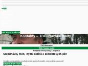 SITO WEB TBG Prazske malty s.r.o.