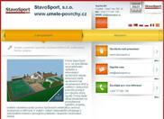WEBOVÁ STRÁNKA StavoSport, s.r.o. www.umele-povrchy.cz