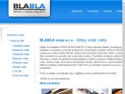 WEBOVÁ STRÁNKA BLABLA VRATA s.r.o.