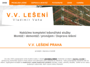 WEBOVÁ STRÁNKA Vladimír Váňa - V. V. LEŠENÍ
