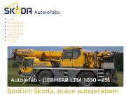 WEBOVÁ STRÁNKA Bedřich Škoda Autojeřáby Škoda