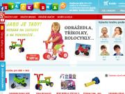 SITO WEB HRACKARNA.CZ Internetovy obchod s hrackami