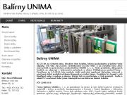 WEBOVÁ STRÁNKA Bal�rny UNIMA s.r.o. Strojn� a ru�n� balen� Chomutov