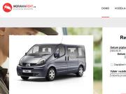 WEBOVÁ STRÁNKA MORAVIA RENT půjčovna dodávek