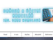 WEBOVÁ STRÁNKA Ing. Dana Homolová - daňová a účetní kancelář