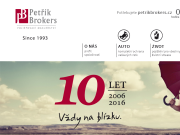 WEBOVÁ STRÁNKA Petřík Brokers, a.s.