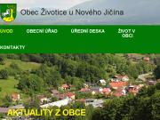 SITO WEB Obec Zivotice u Noveho Jicina Obecni urad