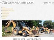 WEBOVÁ STRÁNKA Zempra MB s. r. o.