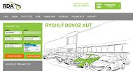 Strona (witryna) internetowa RDAutomobil s.r.o. Rychly dovoz aut