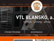 WEBOVÁ STRÁNKA VTL Blansko, a.s. Prodej a servis obráběcích strojů