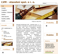 WEBOVÁ STRÁNKA LVM - stavební, spol. s r.o.