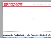 WEBOVÁ STRÁNKA DIAMANT AK s.r.o.