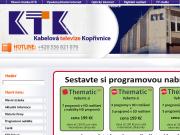 WEBOVÁ STRÁNKA Kabelová televize Kopřivnice, s.r.o. KTK, s.r.o.