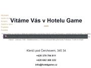 WEBOVÁ STRÁNKA Hotel Game Game H+P, s.r.o.