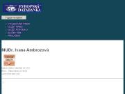 WEBOVÁ STRÁNKA MUDr. Ivana Ambrozová