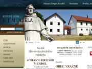 WEBOVÁ STRÁNKA Rodný dům J.G. Mendela