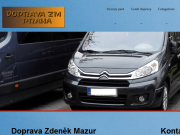 SITO WEB Zdenek Mazur Osobni autodoprava Praha
