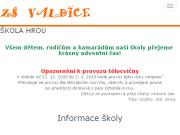 WEBOVÁ STRÁNKA Základní škola, Valdice, okres Jičín
