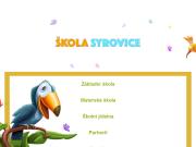 WEBOVÁ STRÁNKA Základní škola a mateřská škola Syrovice,  okres Brno - venkov, příspěvková organizace