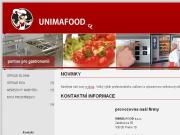 WEBOVÁ STRÁNKA UNIMA-FOOD s.r.o. Gastro zařízení pro veřejné stravování