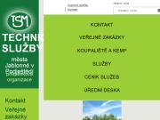 WEBOVÁ STRÁNKA Technické služby města Jablonné v Podještědí, příspěvková organizace