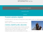 WEBOVÁ STRÁNKA SPOSMASTAV s.r.o.