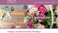 WEBOVÁ STRÁNKA Prodej a aranžování květin Prostějov Ivana Slavovová