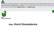 WEBOVÁ STRÁNKA Obec Horní Domaslavice