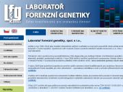 WEBOV� STR�NKA Laborato� forenzn� genetiky, spol. s r.o.