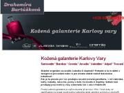 WEBOVÁ STRÁNKA Drahom�ra Bart�kov� Luxusn� ko�en� galanterie