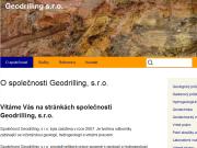 WEBOVÁ STRÁNKA Geodrilling, s.r.o.