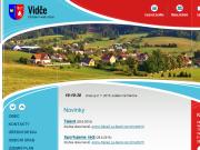WEBOVÁ STRÁNKA Obec Vidče Obecní úřad