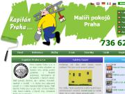 WEBOVÁ STRÁNKA Kapitán Praha s.r.o. Malíř, natěrač, tapetář, lakýrník