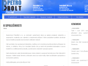 SITO WEB PetroBolt s.r.o. Kotevni a spojovaci material prodej