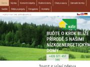 Strona (witryna) internetowa WALFER spol. s r.o.   Srubove domy